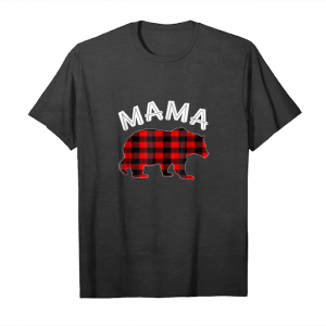 Buy Red Plaid Mama Bear Matching Buffalo Family Pajama T Shirt Unisex T-Shirt