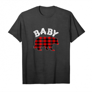 Cool Red Plaid Baby Bear Buffalo Matching Family Pajama T Shirt Unisex T-Shirt