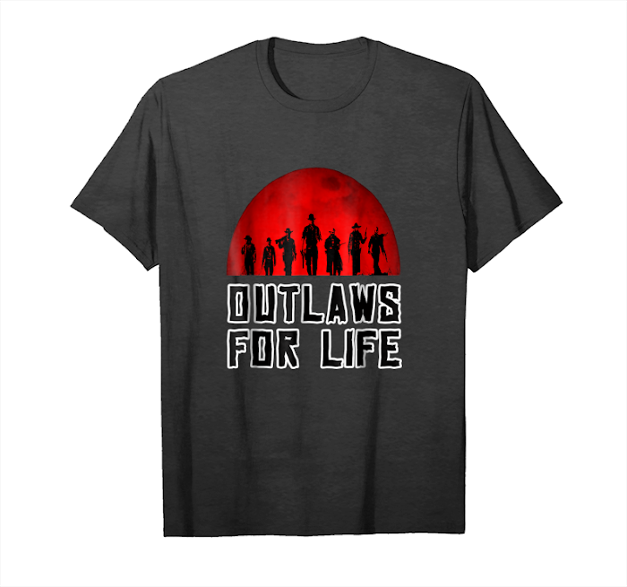 Get Rdr 2 Outlaws For Life Redemptions Moon Cowboy T Shirt Unisex T-Shirt