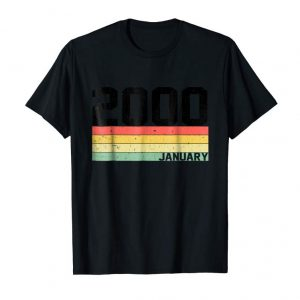 Buy 19th Birthday Gift Retro Born In January Of 2000 T-shirt