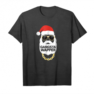 Trends Gangsta Wrapper Funny Santa Christmas T Shirt Unisex T-Shirt