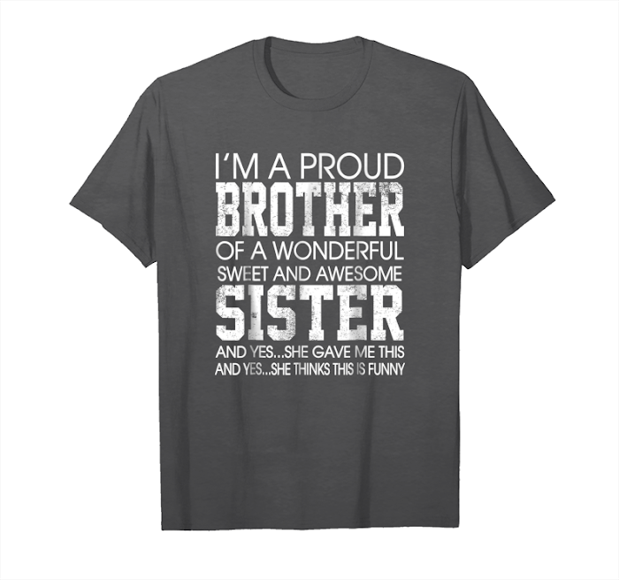 Christmas Gift For Brother From Sister Standard Unisex T-shirt S-5XL