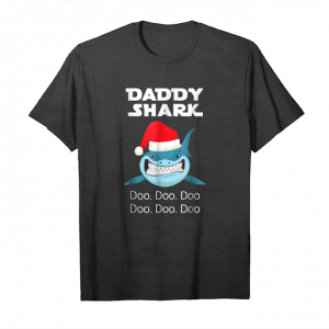 Trends Daddy Shark T Shirt Doo   Christmas Matching Family Gift Tee Unisex T-Shirt