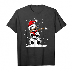 Buy Now Dabbing Snowman Soccer Christmas Funny T Shirt Dab Ball Unisex T-Shirt