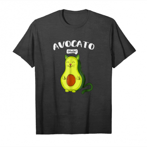 Get Avocato Funny T Shirt Cute Cat Avocado Gift For Vegan Unisex T-Shirt