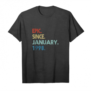 Trending 21th Birthday Gift 21 Years Old Epic Since January 1998 Unisex T-Shirt