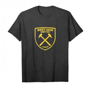 Buy Now West Ham United Gold Crest T Shirt Black Navy Unisex T-Shirt