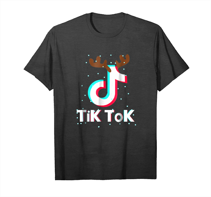 Order Tik Tok Shirt Dancing With Music Note Vintage Christmas Gift Unisex T-Shirt
