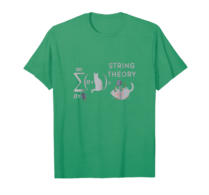 Trending String Theory   Funny Science T Shirt Featuring Cat Equation Unisex T-Shirt