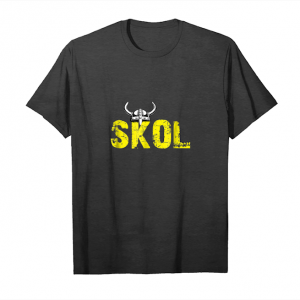 Get Now Skol Helmet Distressed Viking Vintage Purple And Yellow Tee Unisex T-Shirt