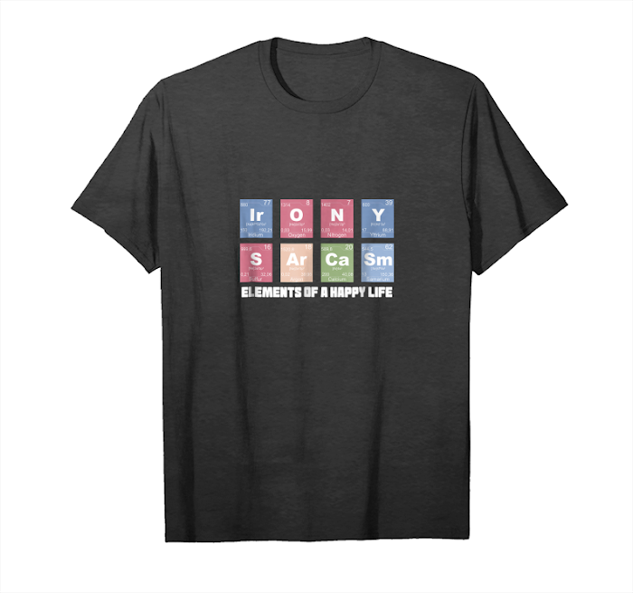 Get Now Science T Shirt Sarcasm Irony Men Women Nerdy Periodic Table Unisex T-Shirt