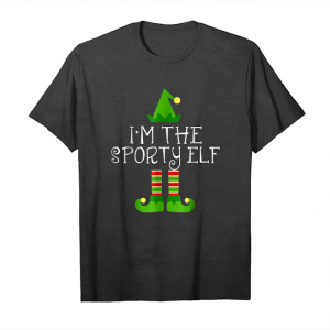 Get Now I'm The Sporty Elf Matching Family Group Christmas Shirt Unisex T-Shirt