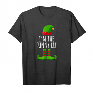 Cool I'm The Funny Elf Matching Family Group Christmas Gift Shirt Unisex T-Shirt
