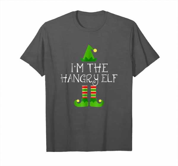Trends I Am The Hangry Elf Matching Family Group Christmas Shirt Unisex T-Shirt