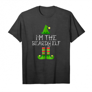 Cool I Am The Beardy Elf Matching Family Group Christmas Shirt Unisex T-Shirt