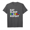 Order Now Eat Sleep Solve Repeat Rubik Cube T Shirt Gift Tee Unisex T-Shirt