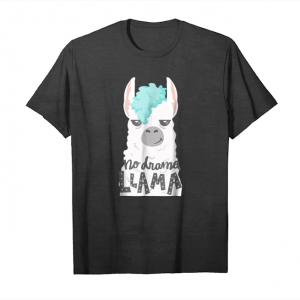 Cool Cute No Drama Llama Like Unicorn Shirt Funny Girl Gift Tee Unisex T-Shirt