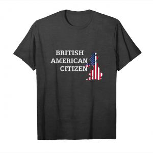 Get Now Citizenship Gift Usa British Flag Naturalization Citizen Unisex T-Shirt