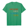 Get Awesome Since January 1959 Tshirt   Age 60th Birthday Gift Unisex T-Shirt