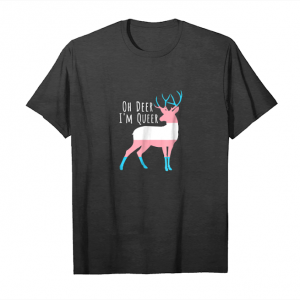 Get Now Trans Flag Oh Deer I'm Queer   Funny Lgbt Gay Pride T Shirt Unisex T-Shirt