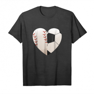 Order Now Soccer Baseball Heart Mom Shirt   Mothers Day Shirt Gifts Unisex T-Shirt