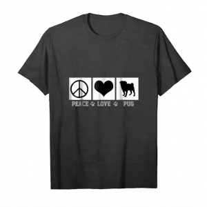 Cool Peace Love Pug Tshirt Unisex T-Shirt