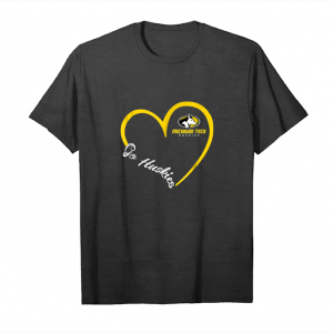 Cool Michigan Tech Huskies Heart 3 4 T Shirt   Apparel Unisex T-Shirt