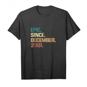 Cool 17th Birthday Gift 17 Years Old Epic Since December 2001 Unisex T-Shirt