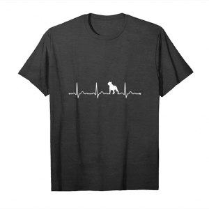 Trends Pitbull Heartbeat I Love My Pitbull T Shirt Unisex T-Shirt