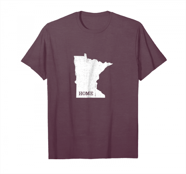 Cool Minnesota Home Love Vintage State Map Outline Shirt Unisex T-Shirt