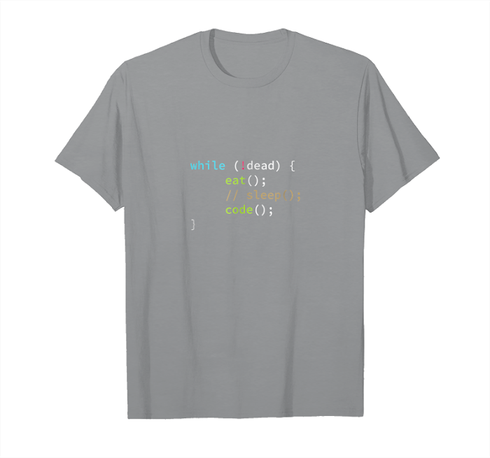 Buy Eat Sleep Code Funny Computer Science Programmer T Shirt Unisex