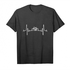 Trending Cycling Heartbeat Shirt Cute Funny Bicycle Bike Rider Gift Unisex T-Shirt