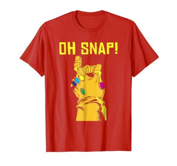 Buy Marvel Thanos Infinity Gauntlet Oh Snap! Graphic T-Shirt