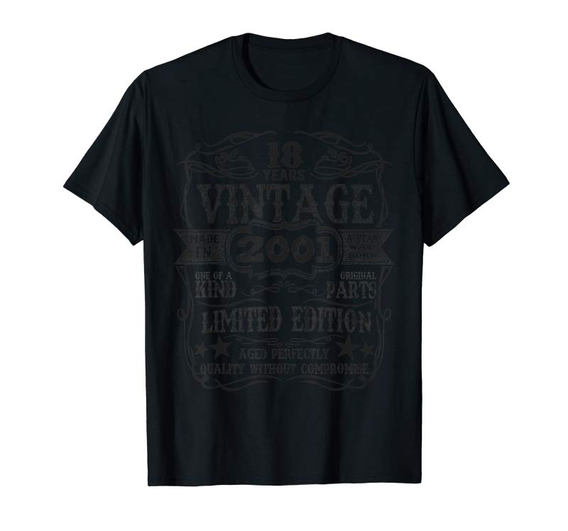 Buy Made In 2001 18 Years Old Vintage 18th Birthday Gift T-Shirt