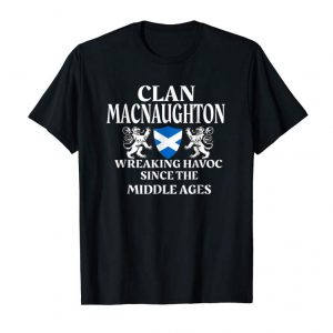 Get MacNaughton Scottish T-Shirt Family Clan Scotland Name Gift