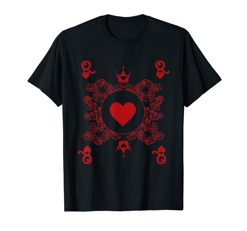 Get Queen Of Hearts Vintage Valentines Day Matching Shirt