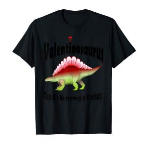 Buy Valentines Dinosaur Cupids Heavyweight Backup Kids T-shirt