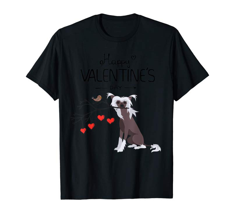 Trending My Chinese Crested Dog Is My Valentines Day T-Shirt
