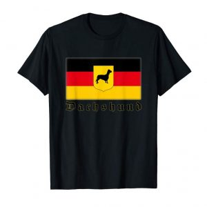 Cool German Dachshund Flag T-shirt By Red's Apparel