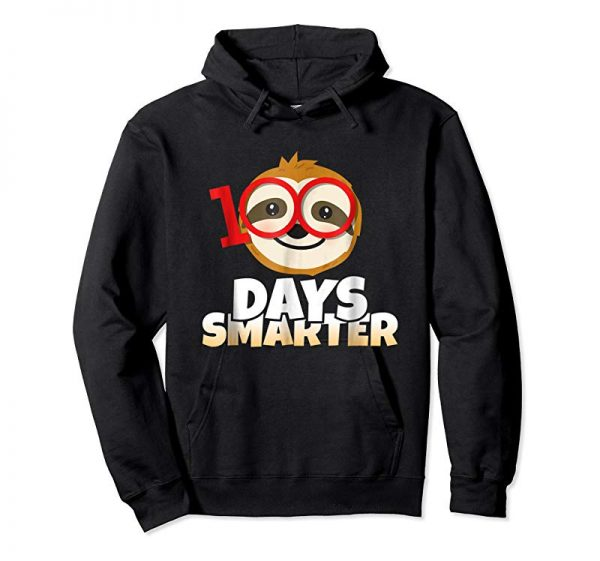 Buy 100 Days Smarter Happy 100th Day Of School Sloth T-Shirt