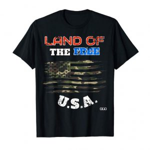 Get Now LAND OF THE FREE CAMO FLAG T-SHIRT