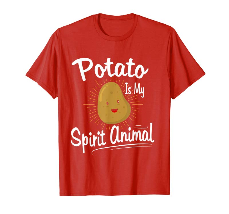 Get Cute Potato T-shirt My Spirit Animal Is A Potato Shirt Tee
