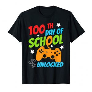 Order Happy 100th Day Of School T-Shirt For Kids Gamer Gift