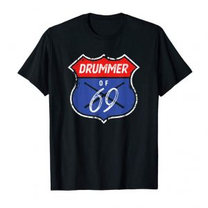 Get Mens 50th Birthday Gift Tshirt For Drummers Born In 1969