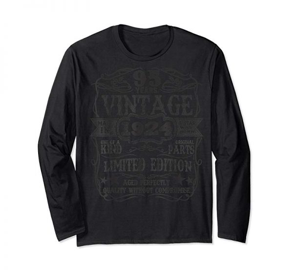 Buy Made In 1924 95 Years Old Vintage 95th Birthday Gift T-Shirt
