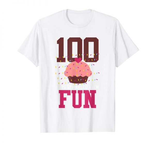 Cool 100 Days Sprinkled With Fun Cupcake Cute School T Shirt