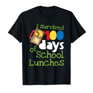 Get I Survived 100 Days School Lunches Kids T-Shirt