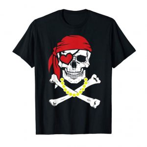 Buy Pirate Flag Skull With Beads Necklace Gasparilla 2019 Tshirt
