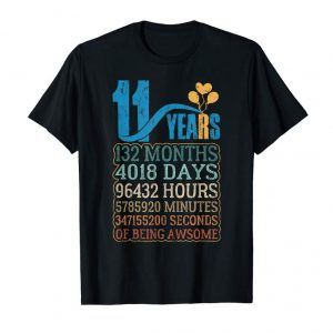 Get Now T-Shirts 11 Years Old 11th Birthday Vintage Retro Gifts Kids