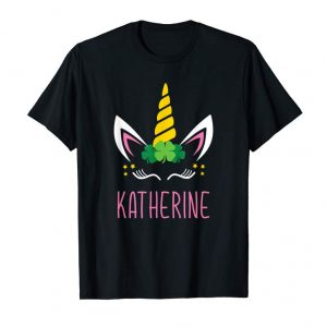 Order St. Patrick's Day Unicorn Face T-Shirt KATHERINE